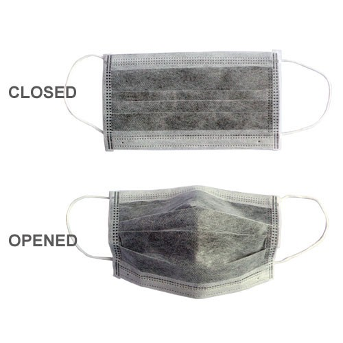 carbon filter disposable face mask