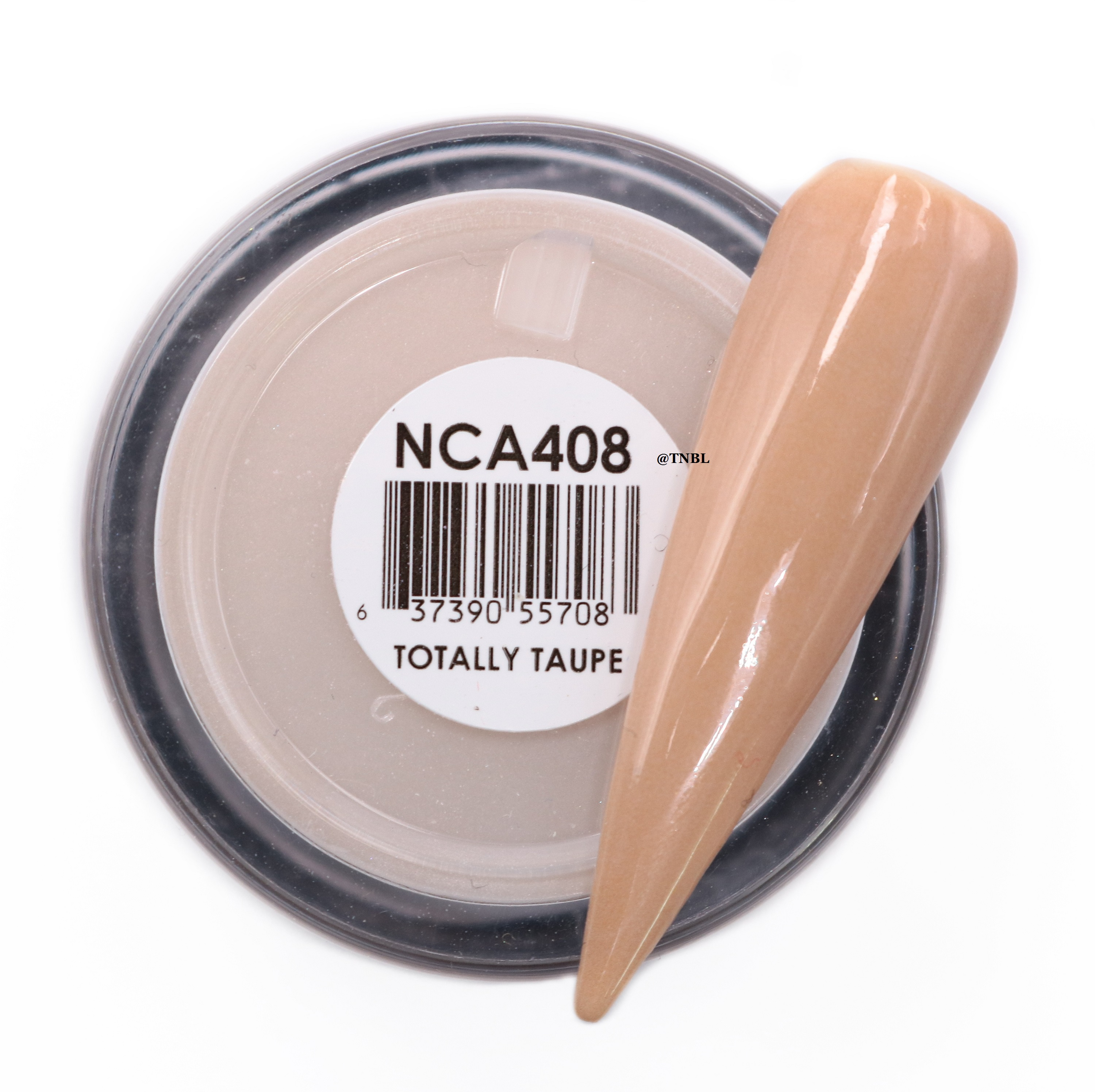 Glam and Glits Naked Acrylic Colour Powder - NCAC408 TOTALLY TAUPE The Nail  & Beauty Link
