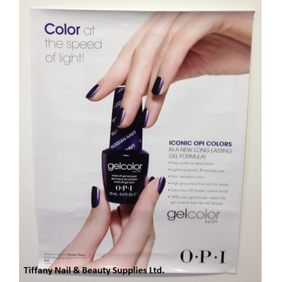 OPI Gel Color Nail Polish Lacquer Picture Poster